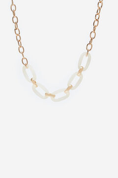 Cortefiel Resin link necklace White