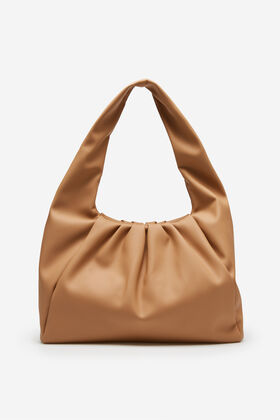 Cortefiel Soft slouch bag Brown