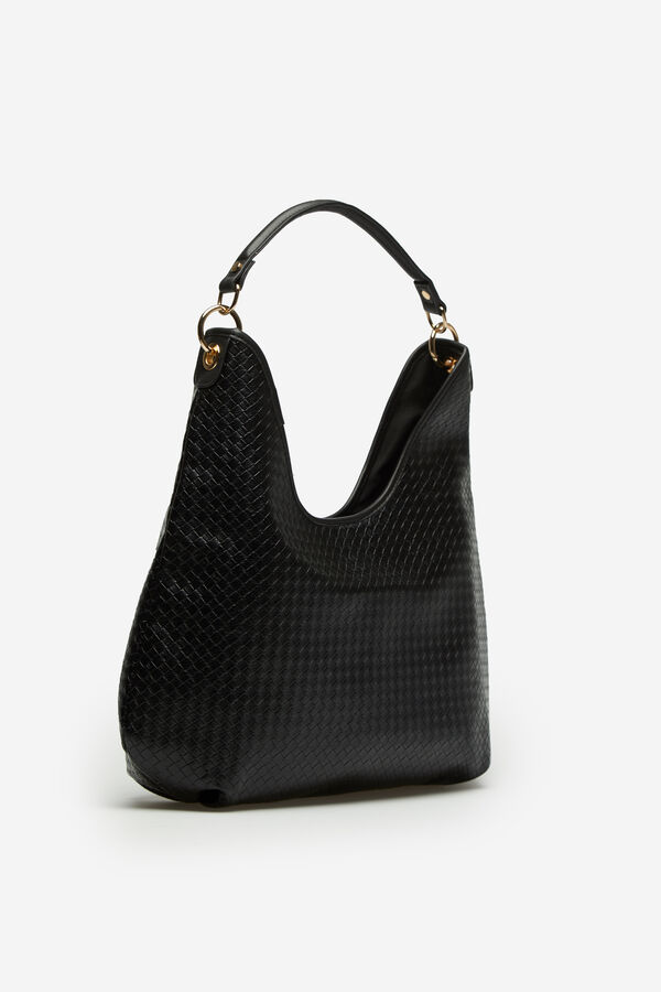 5794db2b9f Cortefiel Slouch bag Black