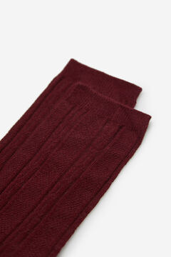 Cortefiel Textured knee length socks Fuchsia