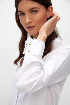 Cortefiel Embroidered shirt White