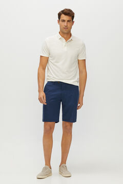Cortefiel Structured Chino-style shorts Navy