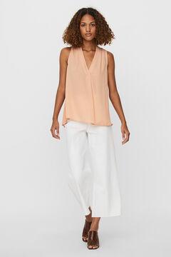 Cortefiel Sleeveless blouse Pink