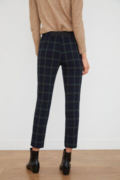 Cortefiel Double layer trousers Green