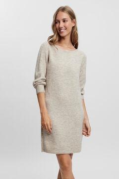 Cortefiel Essential jersey-knit dress Stone