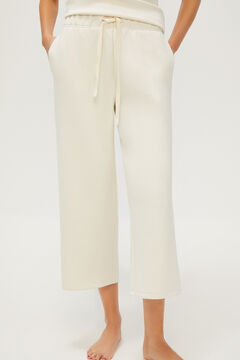 Cortefiel Deluxe sports trousers Ecru