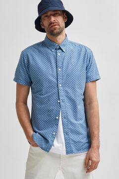Cortefiel Camisa manga corta Azul