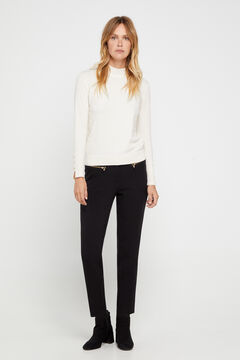 Cortefiel Double layer trousers Black