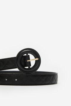 Cortefiel Padded belt Black
