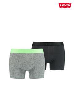 Cortefiel 2-pack neon slub jersey-knit Levi's® boxers Pistachiogreen