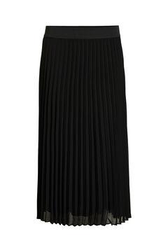 Cortefiel Black pleated midi skirt Black