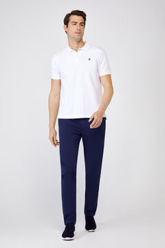 Cortefiel Plain slim fit chinos with elasticated waist  Turquoise