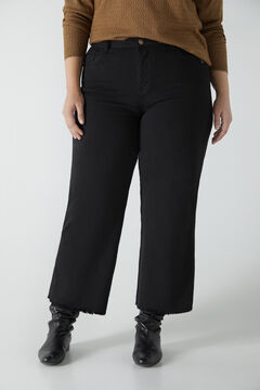 Cortefiel Cropped palazzo jeans Black