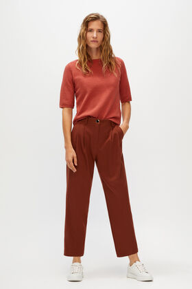 Cortefiel Straight cut trousers Tobaco