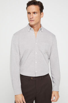 Cortefiel Long-sleeved shirt Gray