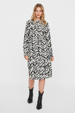 Cortefiel Midi shirt dress Black