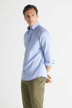 Cortefiel Plain organic cotton Oxford shirt Stone