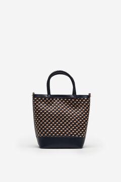 Cortefiel Plaited bucket bag Blue