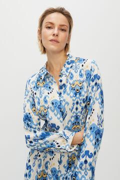 Cortefiel Long shirt dress Ecru