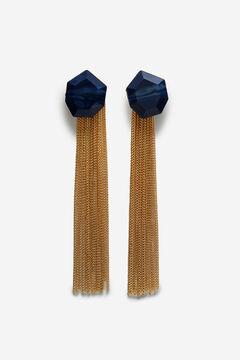 Cortefiel Limited edition tassel earrings Beige