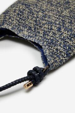 Cortefiel Raffia handbag Navy