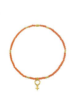 Cortefiel SUMMER beaded elastic bracelet  Coral
