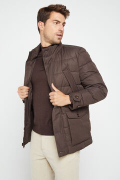 Cortefiel Urbanlight jacket with Thermolite Eco  Dark brown