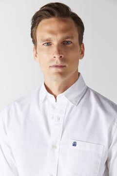 Cortefiel Plain organic cotton Oxford shirt White