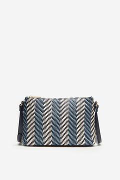 Cortefiel Woven crossbody bag Blue