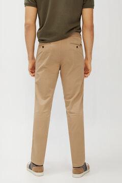 Cortefiel Pantalón chino básico microestampado regular fit ligero Marrón