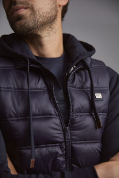 Pedro del Hierro Ultralight quilted gilet Blue