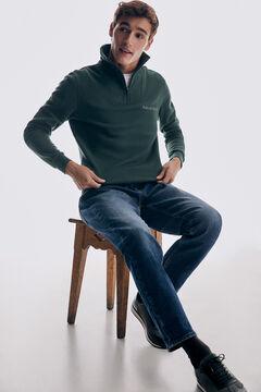 Pedro del Hierro Sweatshirt de gola semicisne Verde