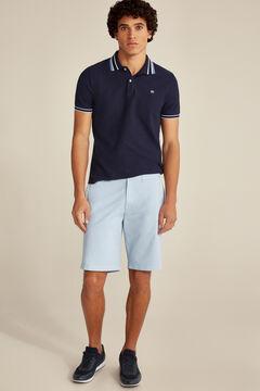 Pedro del Hierro Pima cotton Bermuda shorts Burgundy