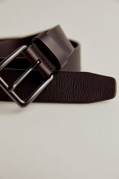 Pedro del Hierro Cinturón liso piel Negro