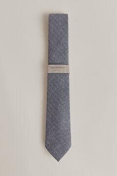 Pedro del Hierro Textured weave tie Blue