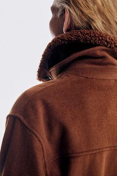 Pedro del Hierro Abrigo sobrecamisa Marrón