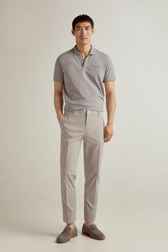 Pedro del Hierro Slim fit elasticated waist lightweight chinos Grey