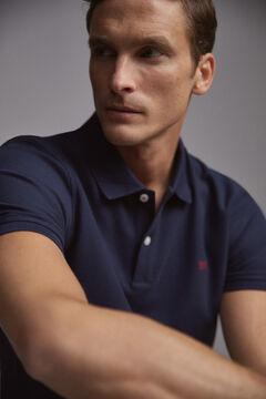 Pedro del Hierro Short-sleeved PdH logo polo shirt Blue
