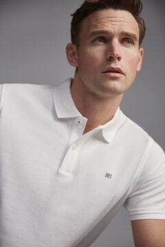 Pedro del Hierro Short-sleeved PdH logo polo shirt White