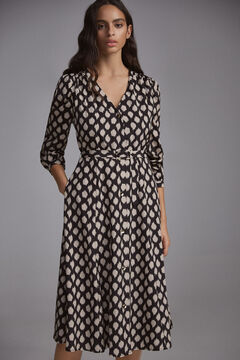 Pedro del Hierro Printed shirt dress Grey