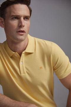 Pedro del Hierro Short-sleeved PdH logo polo shirt Yellow