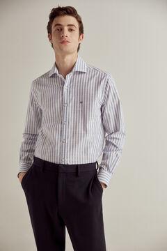 Pedro del Hierro Striped non-iron dress shirt Blue