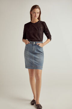 Pedro del Hierro Denim skirt Blue