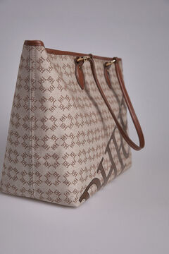 Pedro del Hierro Canvas shopper bag Brown