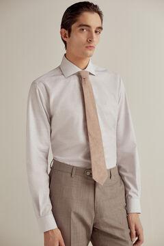 Pedro del Hierro Camisa de vestir lisa non-iron Gris