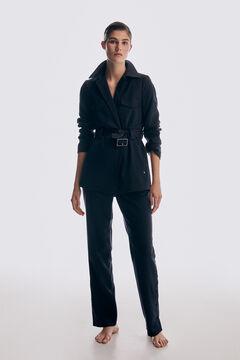 Pedro del Hierro Belted blazer Blue
