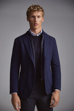 Pedro del Hierro Jersey-knit travel blazer with removable lining Blue