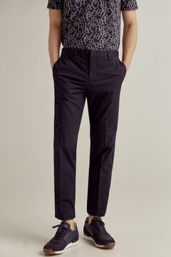 Pedro del Hierro Slim fit elasticated waist lightweight chinos Blue