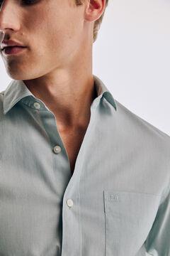 Pedro del Hierro Plain soft Non-Iron cotton shirt Green