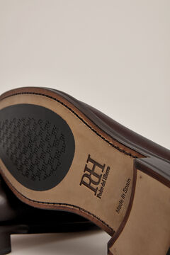 Pedro del Hierro Leather penny loafer Brown